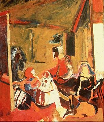 Figure 5. Bing, Bernice. Las Meninas. 1960. Oil on Canvas, 6 x 6'. Private collection