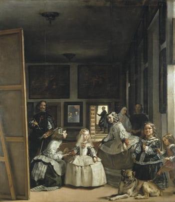 """Figure 6. Velázquez, Diego. Las Meninas,1656. Oil on canvas. 10'5"""" x 9'1"""". Museo del Prado, Madrid."""
