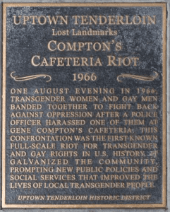 Compton's Cafe Historical marker