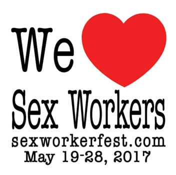 We heart Sex Workers Text with red heart