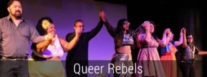 Queer Rebels Cast taking a bow