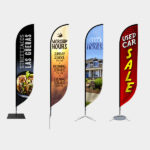 feathered flag, outdoor flags, outdoor marketing