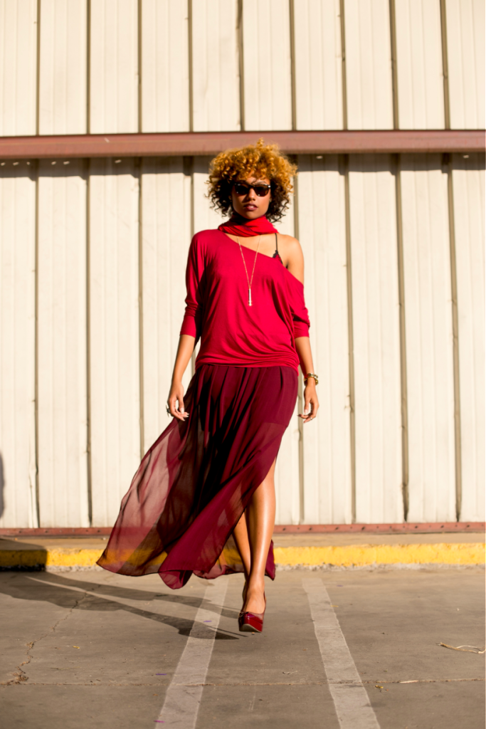 Monochrome, all red outfit, maxi skirt, fall fashion, spring fashion, summer fashion, style, sexy