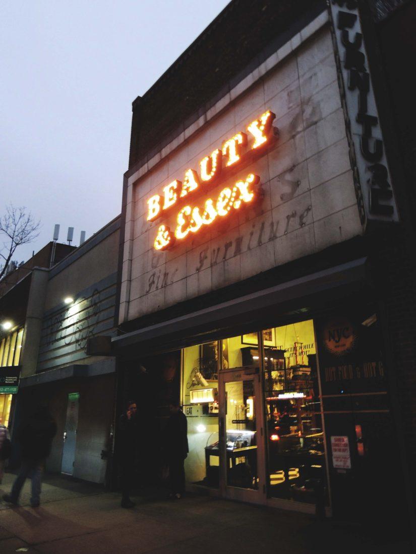 Beauty & Essex Restaurant in New York