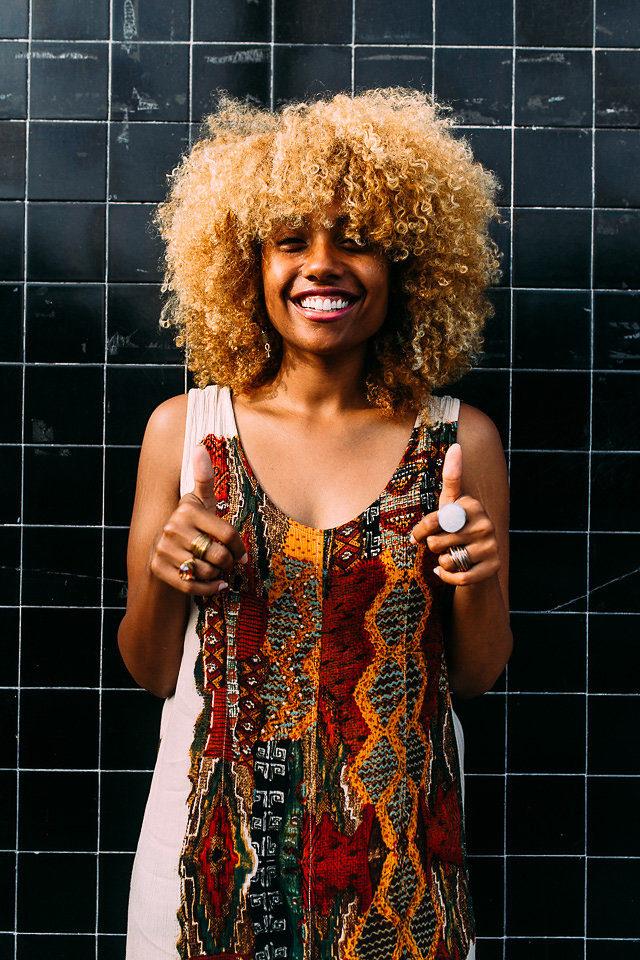 shift midi or maxi dress for the summer-natural hair-afro-long beach