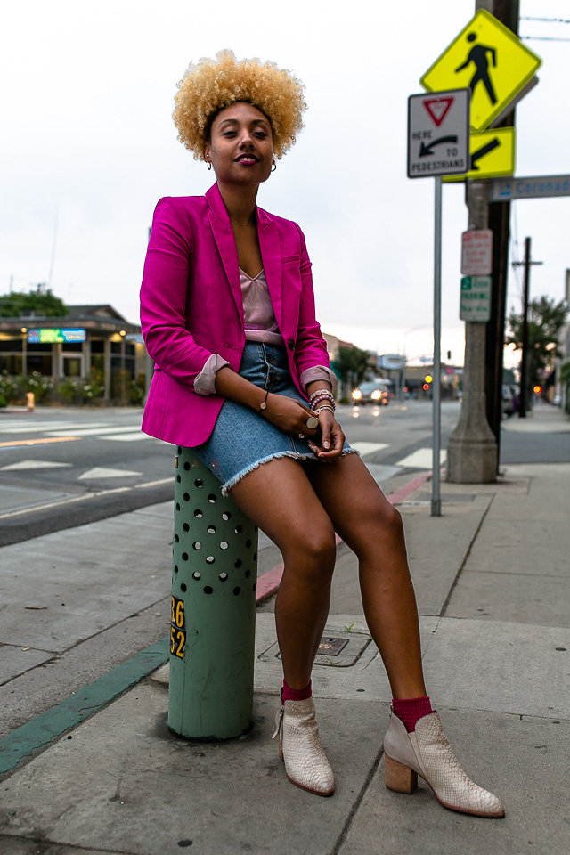 how to wear a pink blazer and how to buy a good blazer