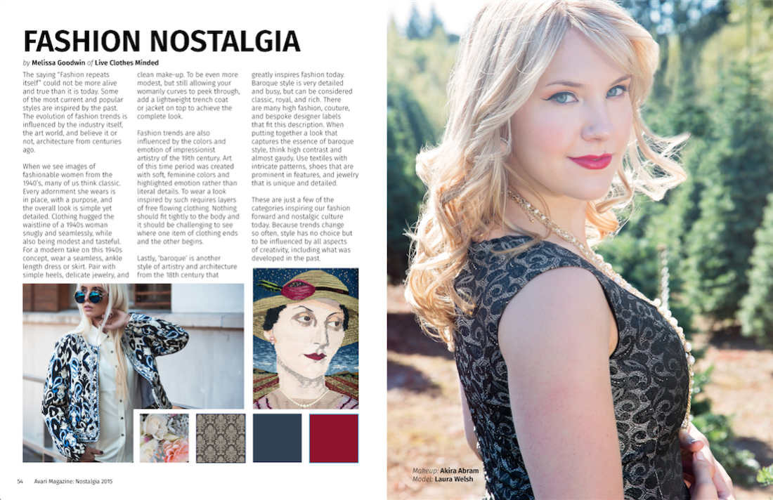 Avari Magazine Stylist Column written by Melissa of Liveclothesminded