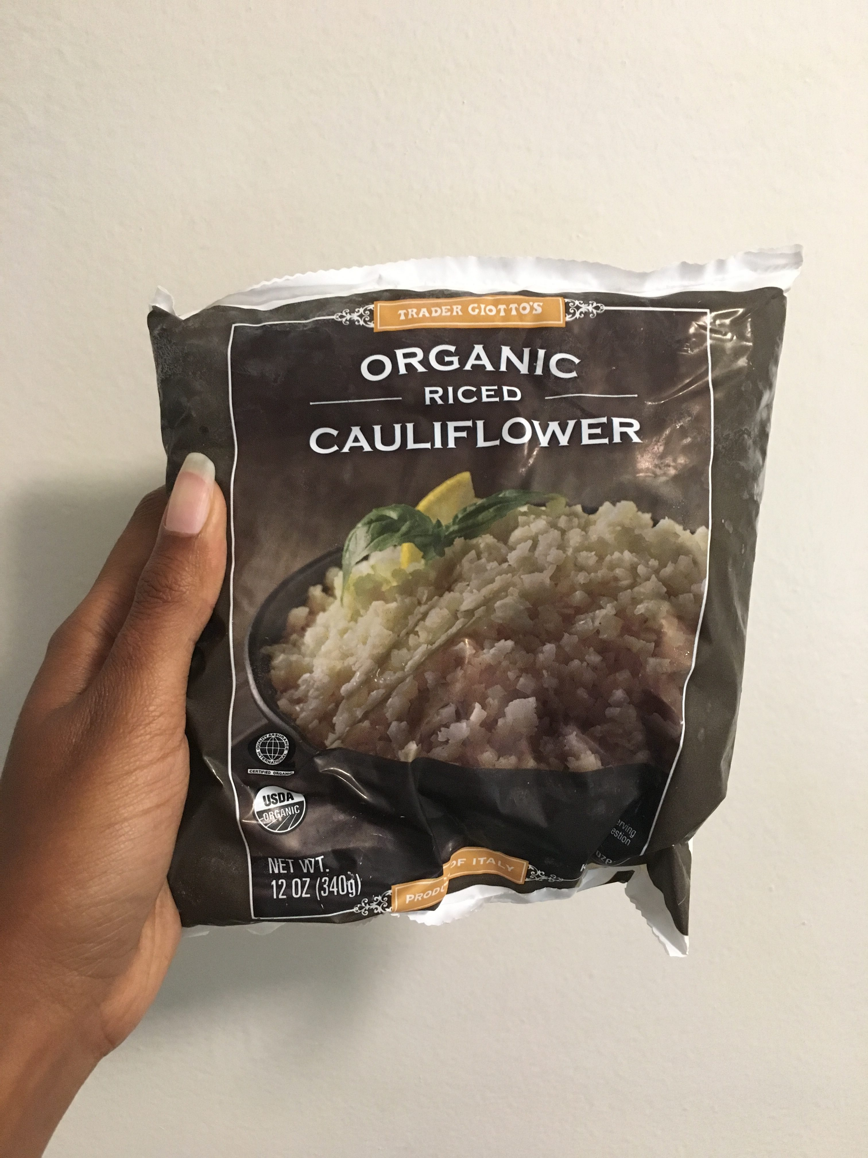 Trader Joes Frozen Riced Cauliflower