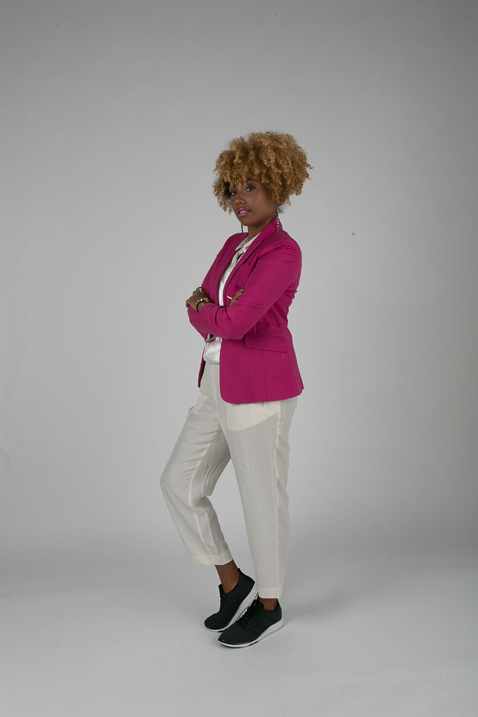 RSEE-LCM-Liveclothesminded-xmmtt-longbeach-7203-blazer-pink blazer-statement blazer-what to wear to work-outfit idea for work-natural hair-blonde curls
