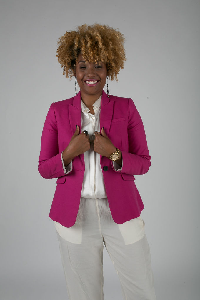 RSEE-LCM-Liveclothesminded-xmmtt-longbeach-7226-blazer-pink blazer-statement blazer-what to wear to work-outfit idea for work-natural hair-blonde curls