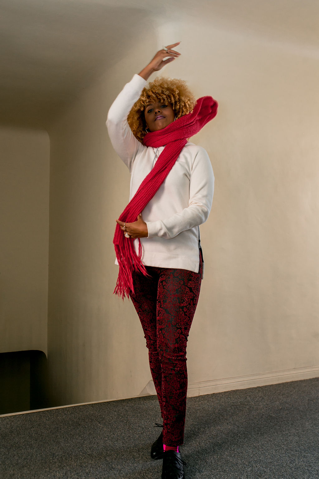 RSEE-LCM-Liveclothesminded-xmmtt-longbeach-2413-how to wear-pink + red-fall outfit-pink scarf