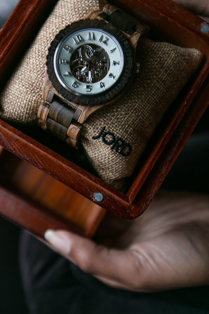 jord wood watch in presentation box for a mens gift idea