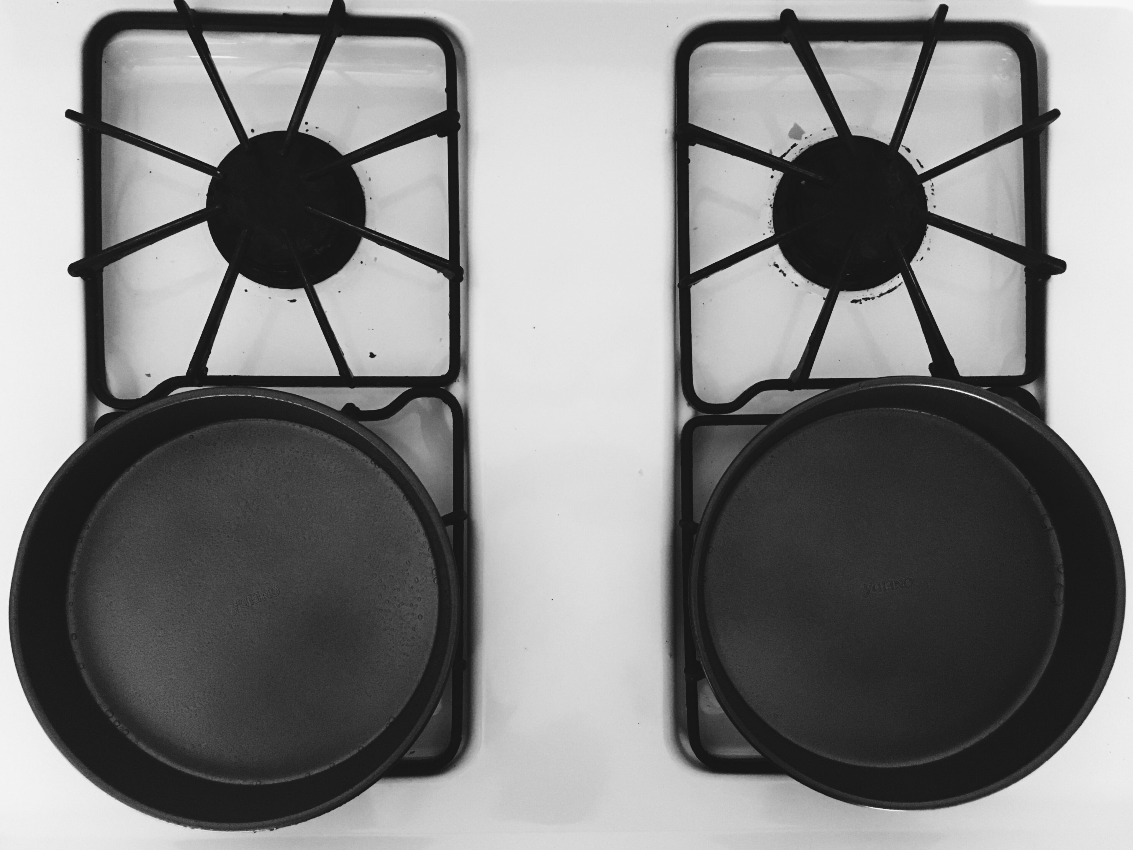 greased 8x8 inch round pans