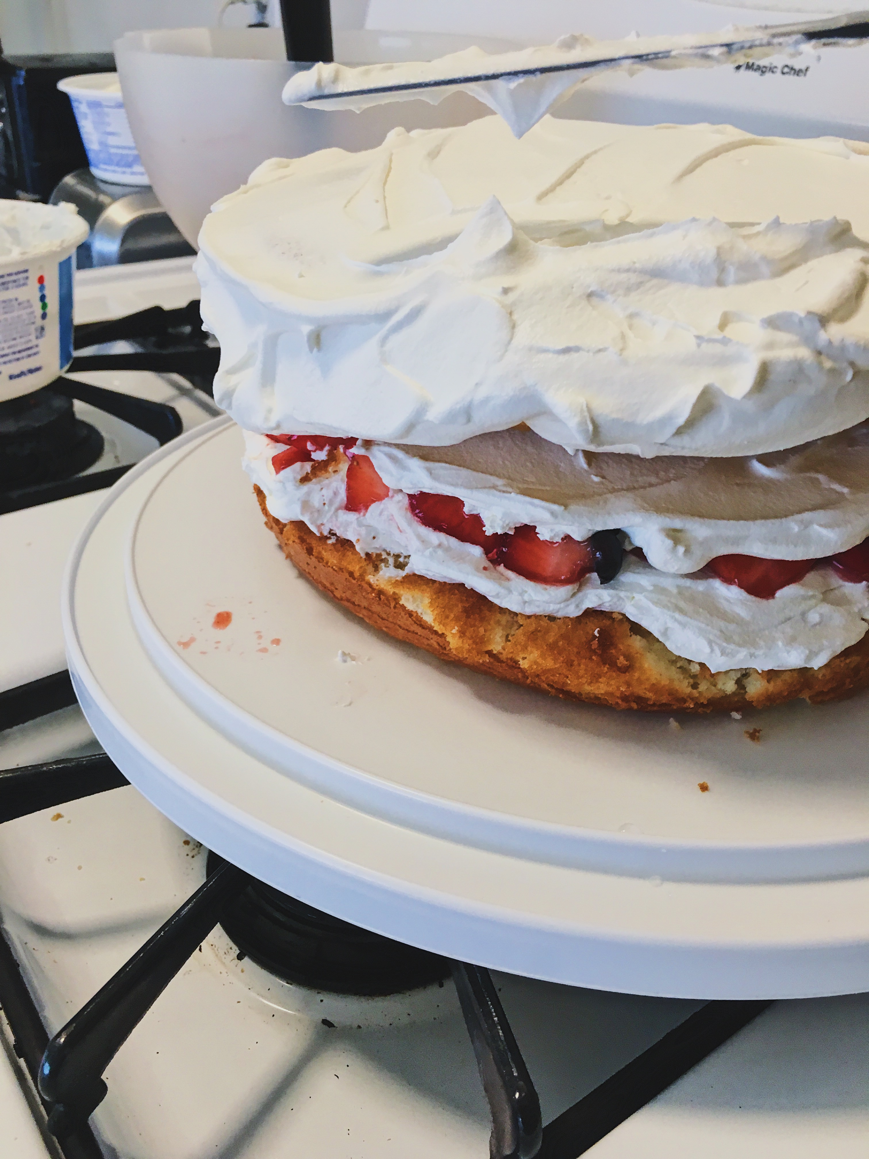 cover cake in cool whip