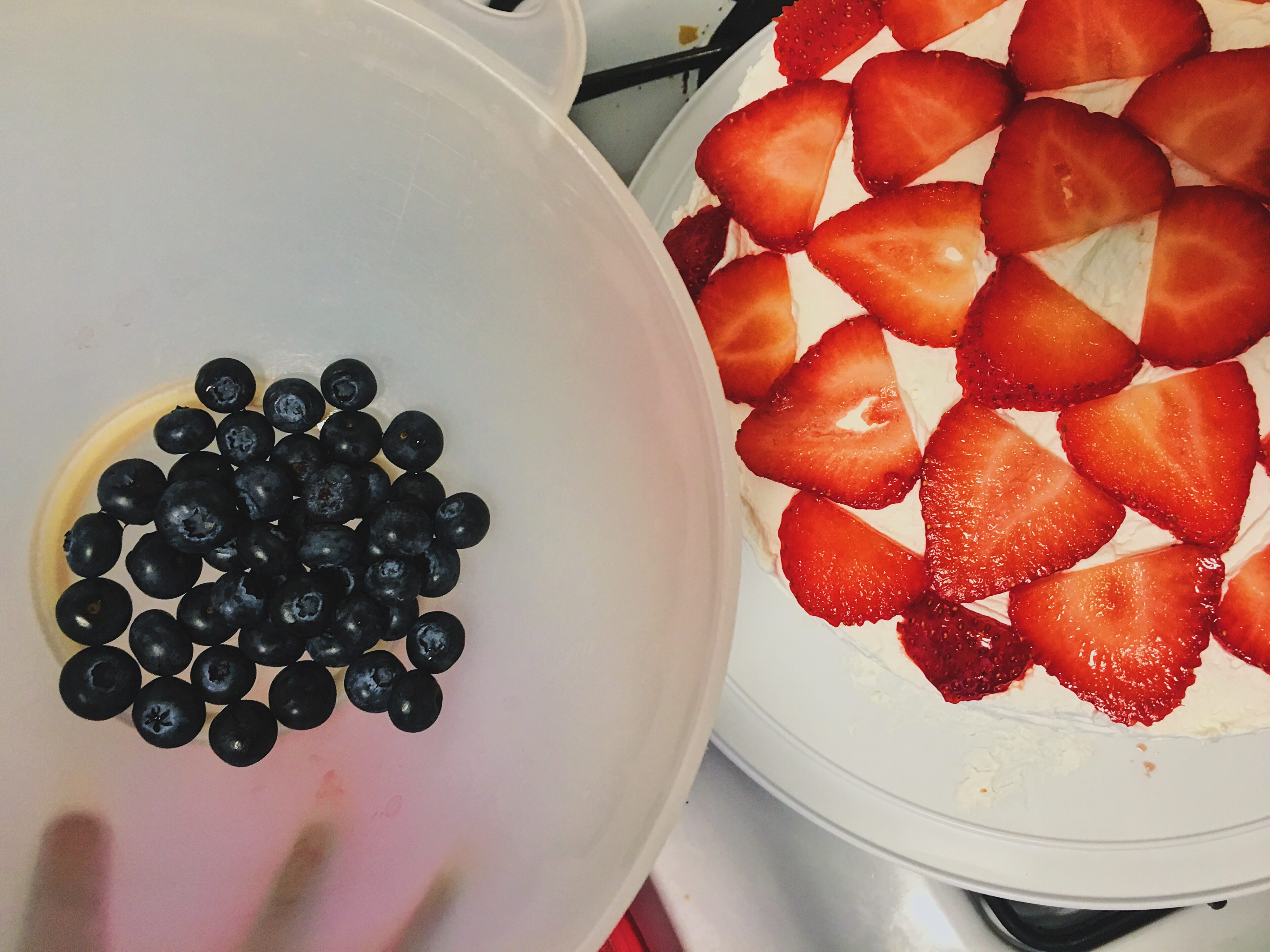 add blueberries to cake