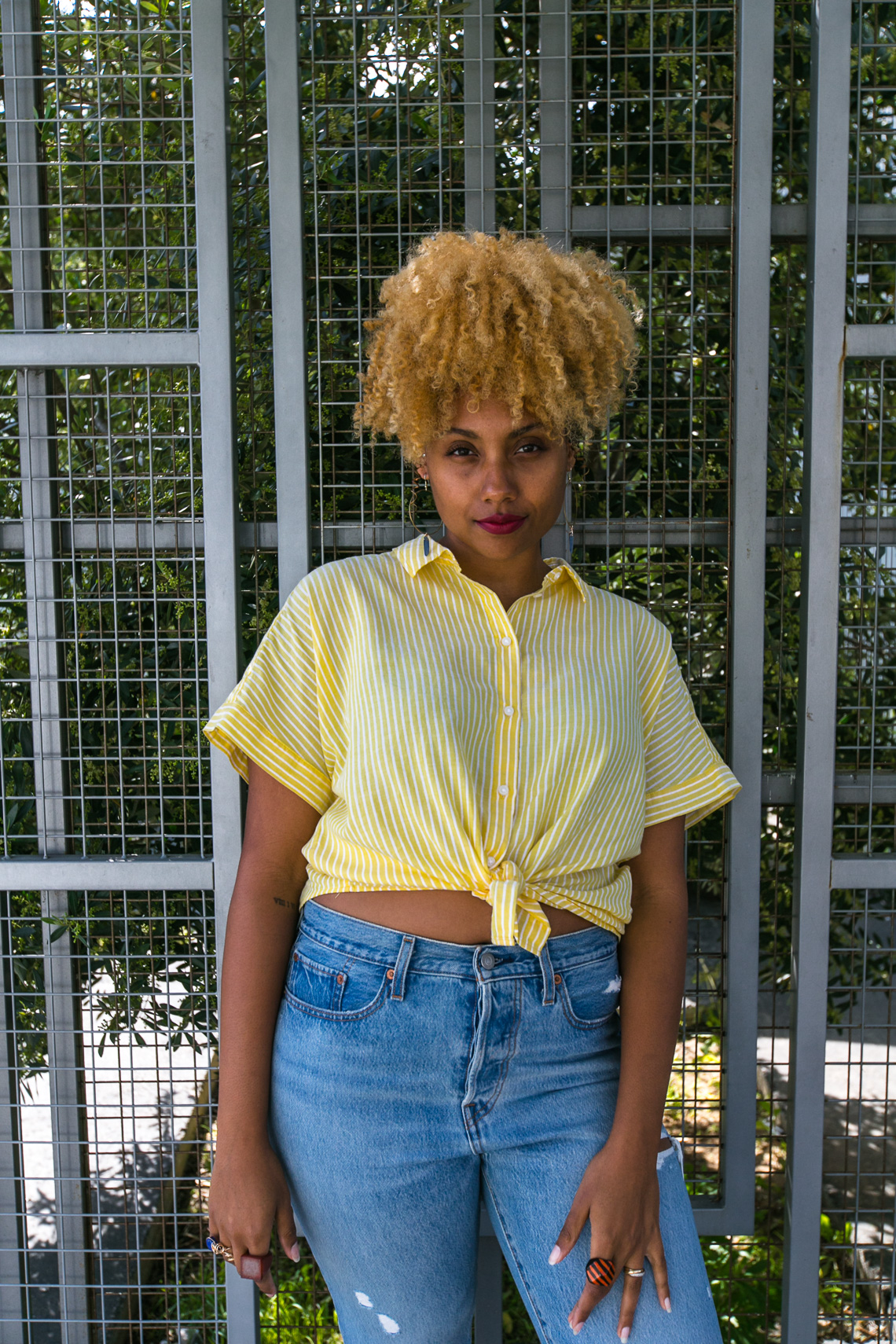 h&m-wear who you are-levis wedgie fit jeans-rsee-yellow blouse-summer outfit-look 1