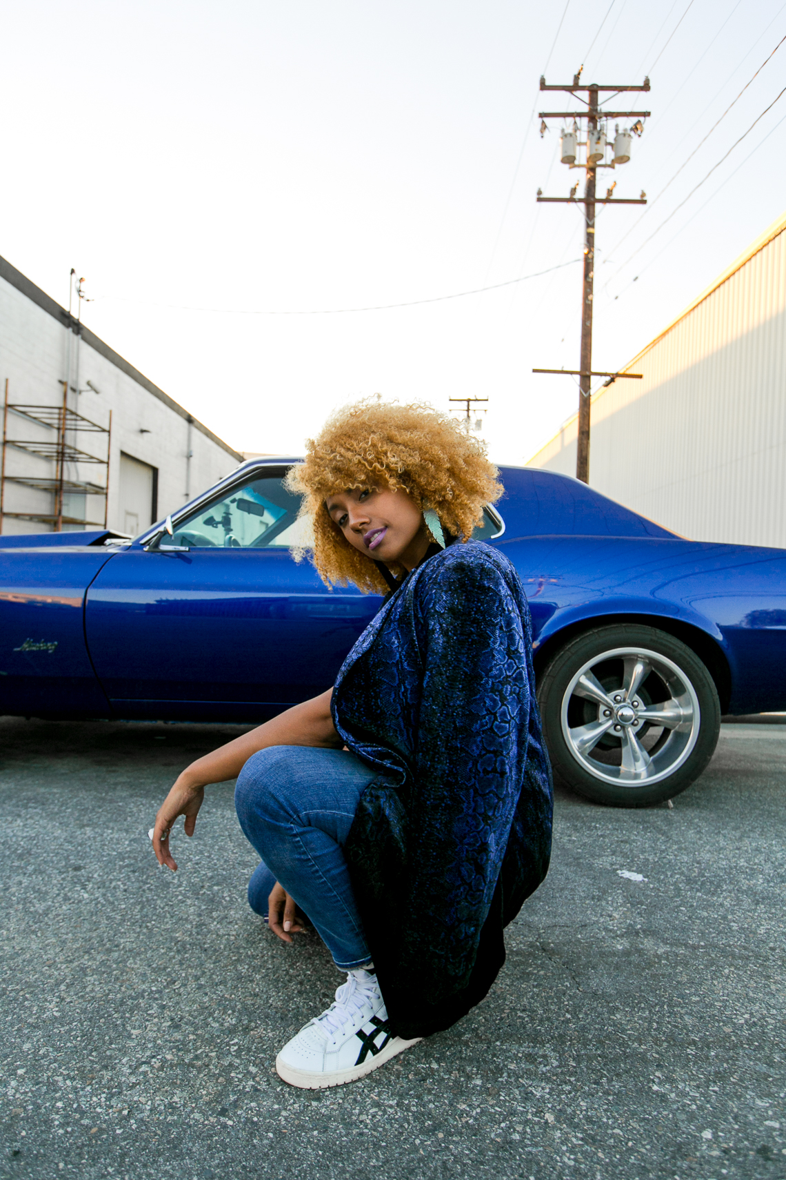 snake print-natural hair-curly hair-rsee-xmmtt-wear who you are-blue mustang