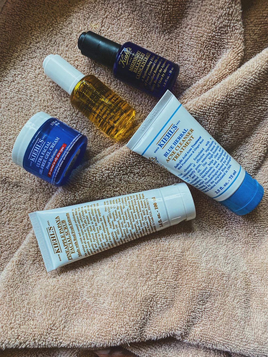 kiehls products-combination skin