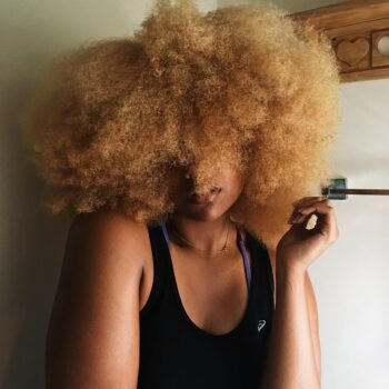 castor oil for hair-blonde afro-natural hair