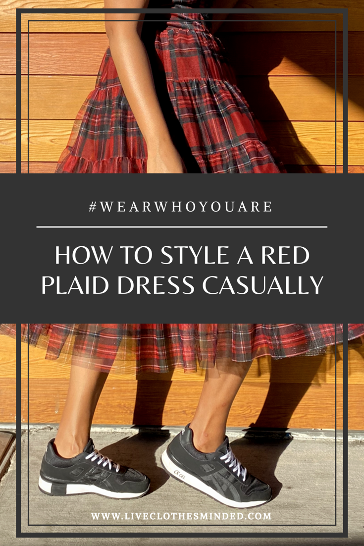 how to style a red plaid dress-liveclothesminded.com-wear who you are