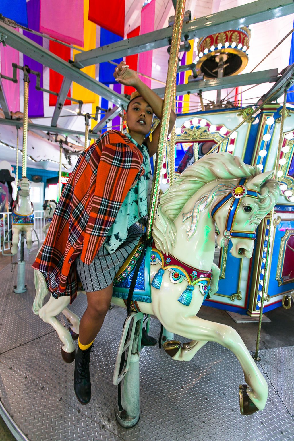 merry go round-fashion photoshoot-nordstrom rack-susina-long beach marina-rsee-xmmtt-wear who you are