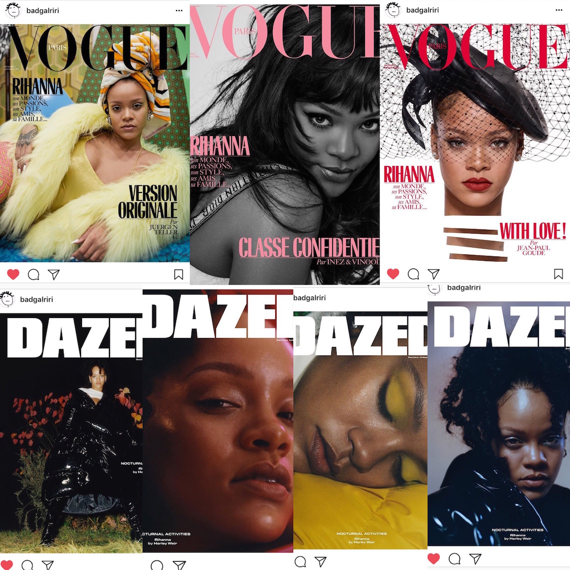 rihanna magazine covers-badgalriri screenshots