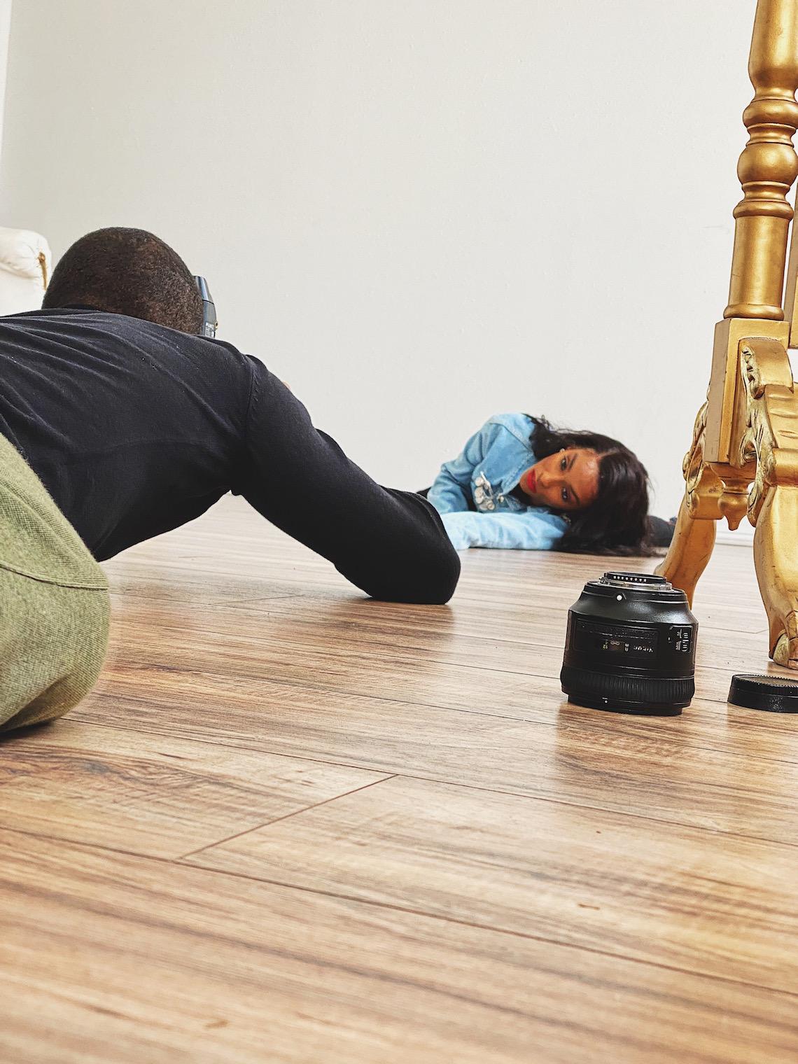 sheldon botler-photo shoot-floor angle-modeling