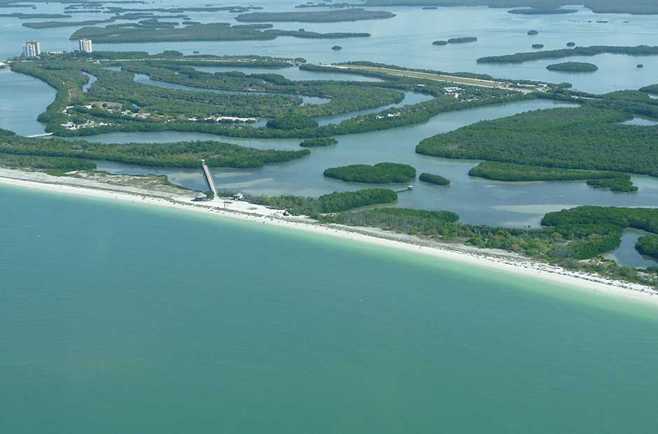 Lovers Key State Park aerial view photo: Pamela Jones-Morton