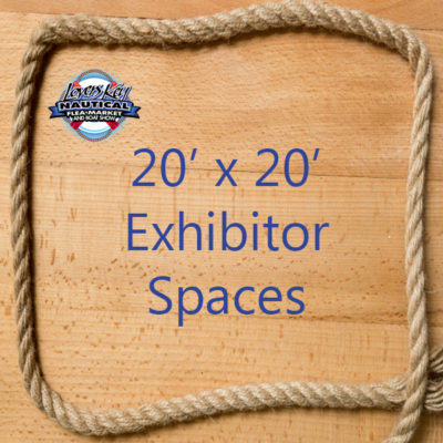 Lovers Key Nautical Market & Boat Show 20 x 20 exhibitor space sign