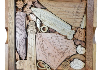 Handcrafted Wood Puzzles and Games at Lovers Key Nautical Market