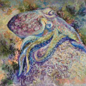 Octo on the Brain by D Zoe Shutka fine art
