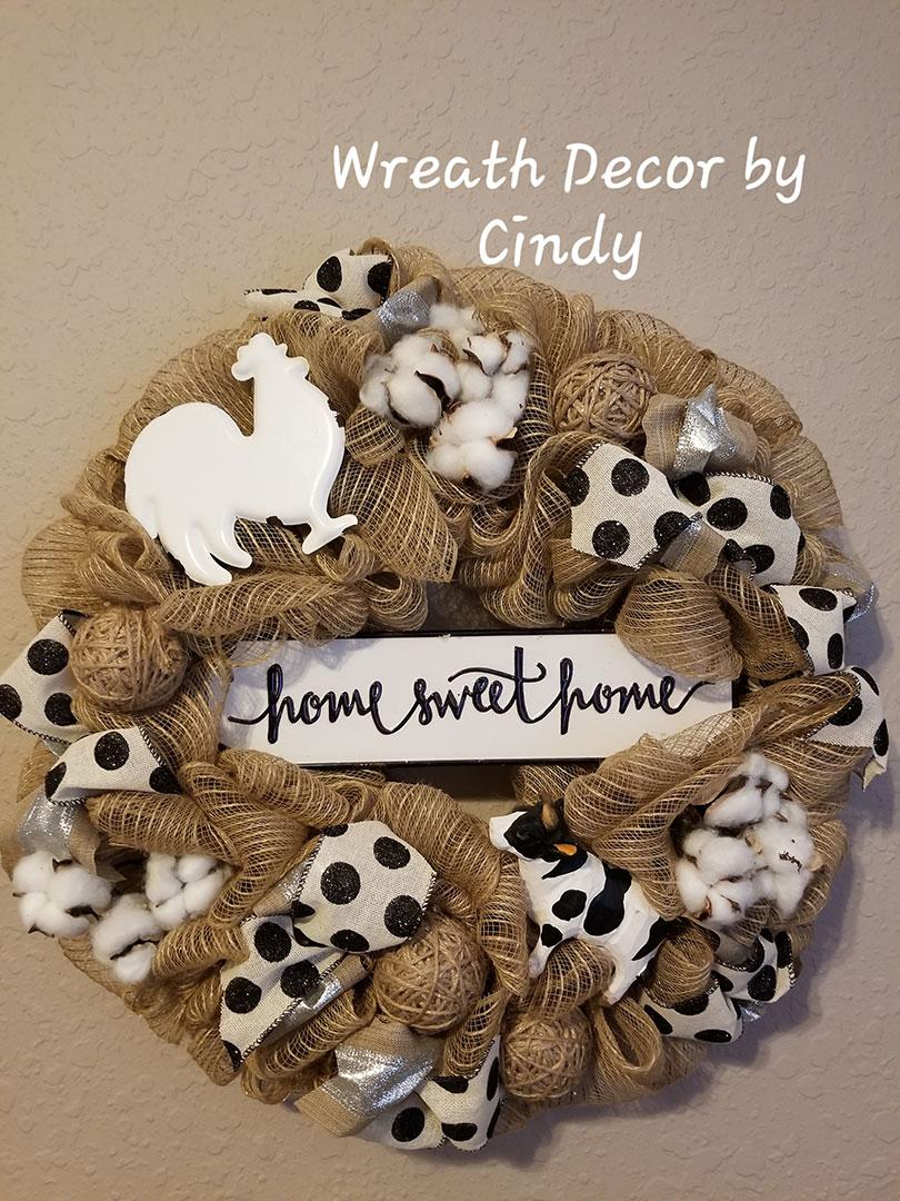 Home Sweet Home - Wreath Decor by Cindy at Lovers Key Nautical Market - loverskeynauticalmarket.com