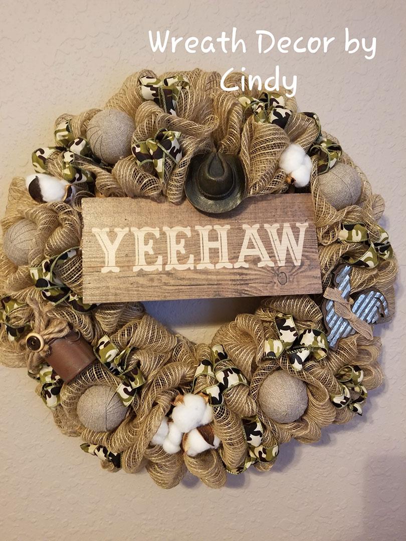 YeeHaw - Wreath Decor by Cindy at Lovers Key Nautical Market - loverskeynauticalmarket.com