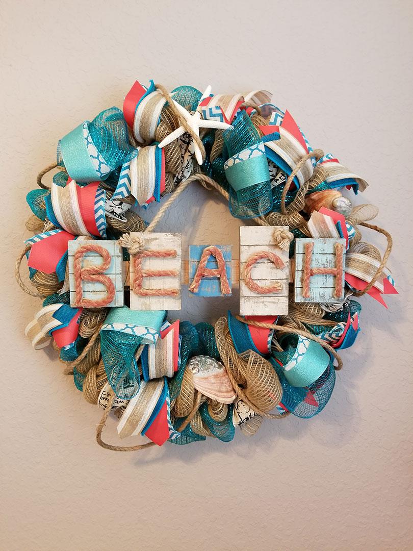 Beach - Wreath Decor by Cindy at Lovers Key Nautical Market - loverskeynauticalmarket.com