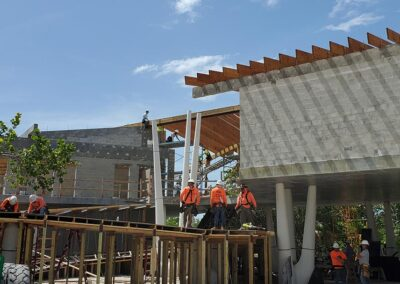 Construction progress on the Welcome & Discovery Center at Lovers Key State Park, Fort Myers Beach.