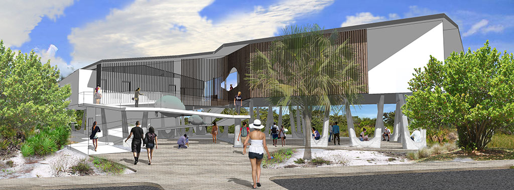 Artist's Rendering of approach to Welcome & Discovery Center at Lovers Key State Park