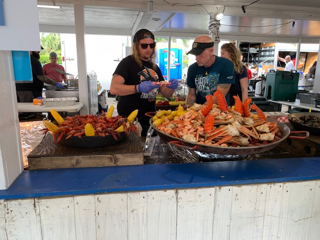 mouth watering seafood at Lovers Key Boat Show, Market & Seafood Fest 2021