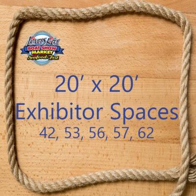20 x 20 exhibitor space