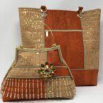 Portage Embellished Cork Handbag & Tote