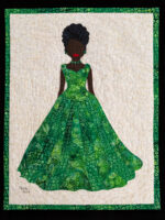 """Emerald Elegane"" an original art quilt by Linda Keene.  Copyright 2019."