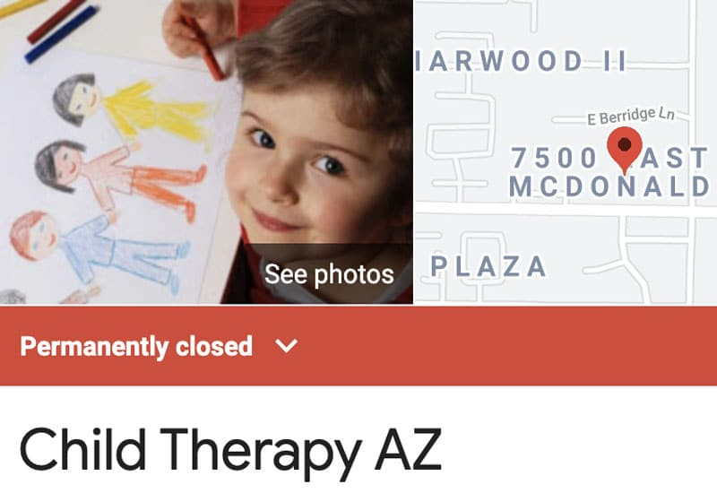 Child Therapy AZ Permanently Closed