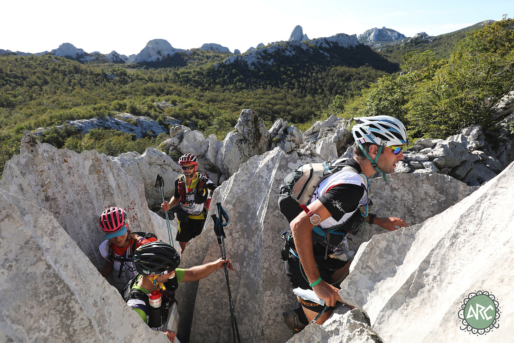 Racing at Adventure Race Croatia in Karst scenery