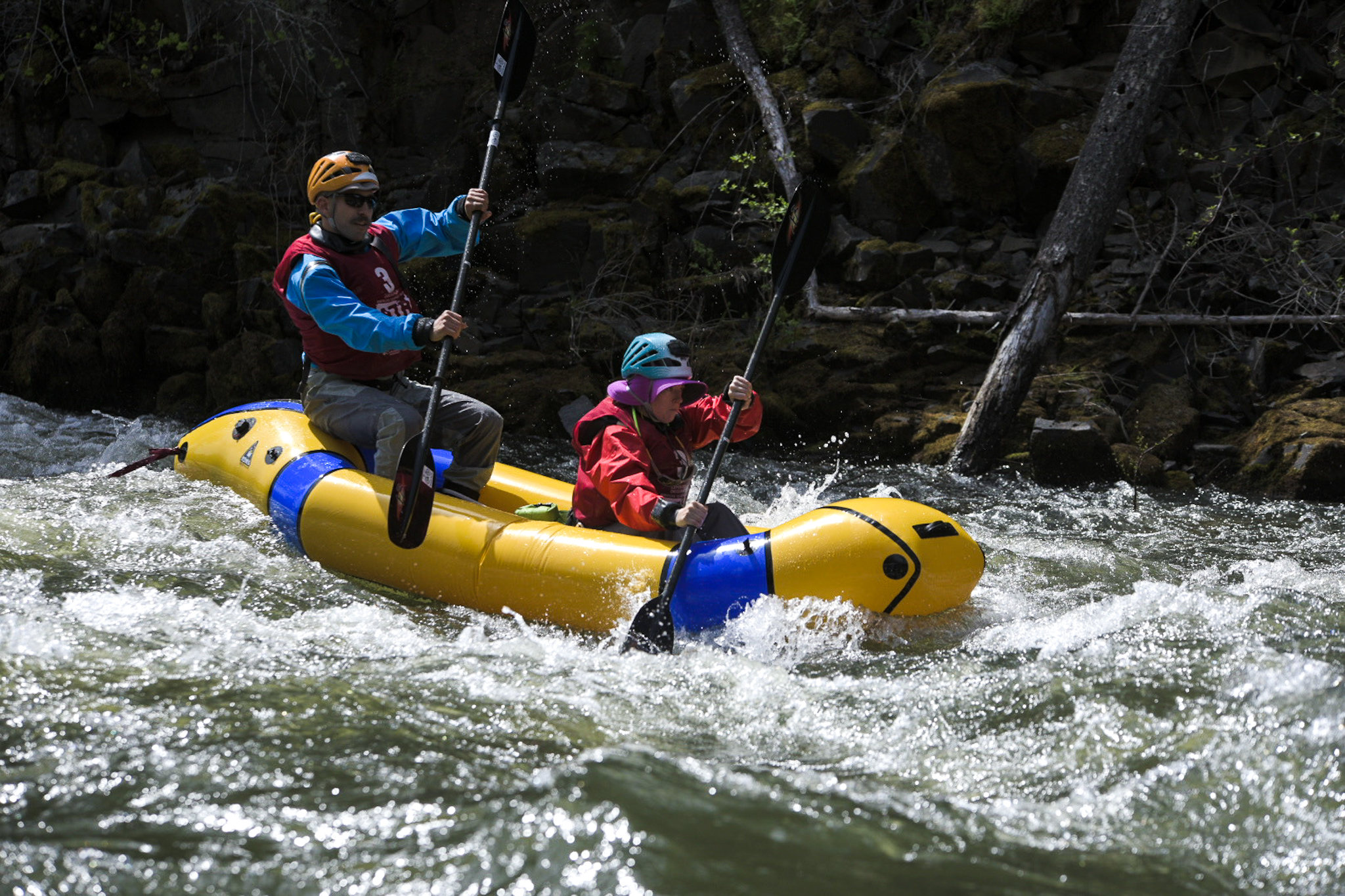 Pack rafting at Expedition Oregon