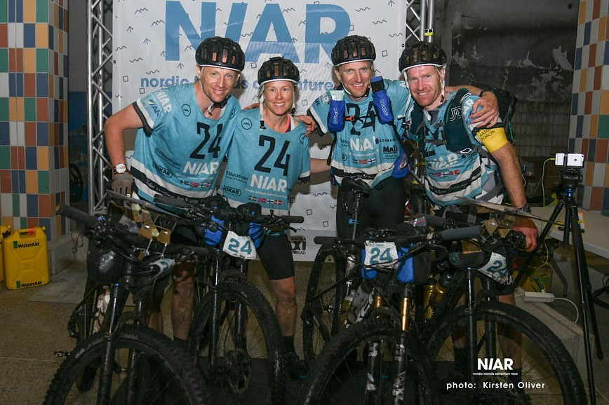 Swedish Armed Forces Adventure Team at the finish