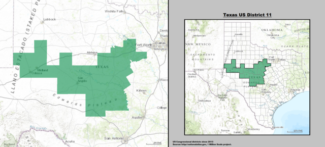 Odessa, Texas Congressional District courtesy of Bill's Politics List with Odessa's US Representative & Senators in Congress.
