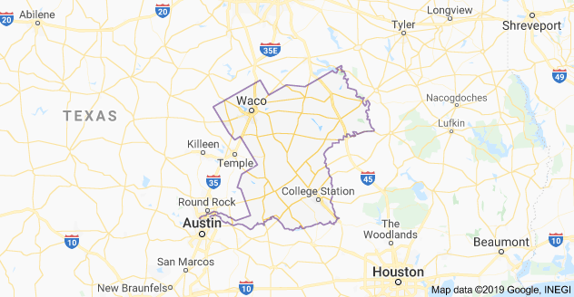 Texas 17th Congressional District Map as of United States Congress 113 with List of US House District's Major Cities & Towns