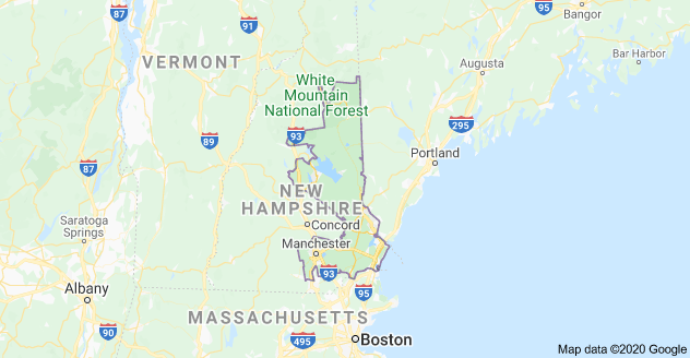 New Hampshire Congressional District 1 Map as of United States Congress 113 with US House District's Major Cities, Towns List