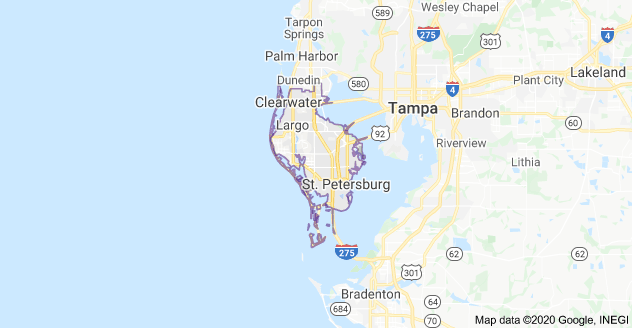 Florida's 13th Congressional District Map as of Congress 116 with District's Cities and Towns List Plus Partisan Voting Index