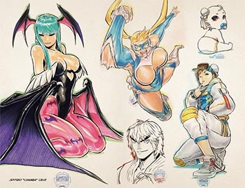 Udon x Capcom Sketchbook