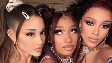 "Photo of Ariana Grande, Megan Thee Stallion & Doja Cat Unleash ""34+35"" Remix Video"